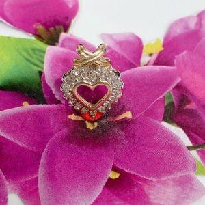 10k Heart Pendant/ Diamond